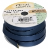 Flat Leather 10x2mm (5m Spool) Navy Blue
